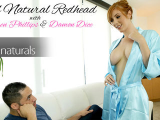 Cum hungry busty redhead Lauren Phillips gets on..