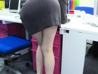 Office hottie Ibuki got thong pulled down for a..