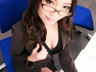 Ibuki Asian in office suit is fucked from behind..