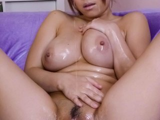 Nene Azami Asian with big and oiled jugs sucks..
