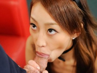 Yuu Kusunoki Asian bunny gets cum in mouth and..
