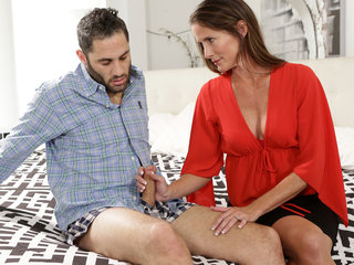 Cock hungry milf Sofie Marie shows her stepson..